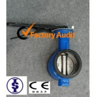 Quality Rubber Lined Grooved End Butterfly Valve Stainless Steel / EPDM / NBR For Water for sale