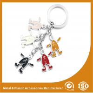 Elegant Colorful Metal Personalised Keyrings Promotional Key Chains