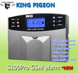 Safeguard your villa S100pro GSM SMS vibrating alarm system