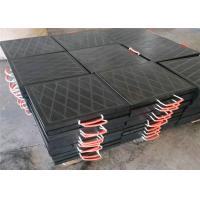 Quality 600mm x 600mm x 40mm crane foot support blocks with nylon rope for sale