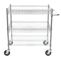 Quality Chrome Plated Home Wire Shelving For Sundries 20mm Wire Gap for sale
