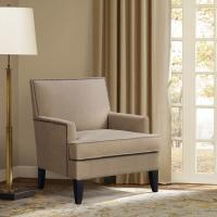 Track Arm Teal Accent ChairLounge Room With Tight Clean Line Tailoring Offset