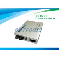 Buy 10 / 100M 1310nm SM Fiber Ethernet Media Converter Black Silver 60Km SC External Power at wholesale prices