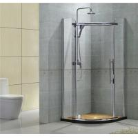 China Rounded Corner Quadrant Pivot Shower Doors 8MM Clear Glass For Apartment on sale