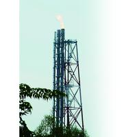 Refinery Demountable Elevated Flare System For EPC Project , Ground Flare System Design