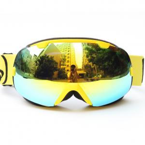 Detachable Anti Fog Mirrored Ski Goggles REVO Lenses For Snow Boarding