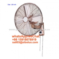 Quality 18 inch deluex metal vintage wall fan for office and home appliances/Ventilador de pared for sale
