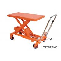 Buy cheap 750Kg 16501b Hand Lift Table , Hydraulic Scissor Lift Cart Easy Hand Operation from wholesalers