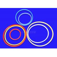 Quality Smooth Surface Molded Silicone Parts , Durable Soft Rubber O Rings Mothproof for sale