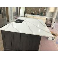 Quality Quartz Solid Surface Stone White Kitchen Countertops for sale