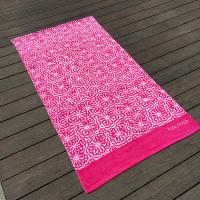 Quality Soft Women Designer Beach Towels Reactive Print Pink And White Flower for sale