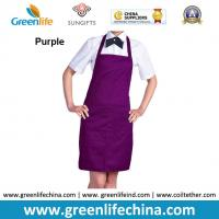 Quality Top quality purple apron with front proket custom printing logo for company advertisment for sale