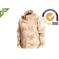 Quality Windproof Desert Tactical Softshell Jacket , Military Style Coat For Outdoor Sports for sale
