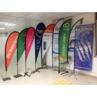 Quality Digital Printing Teardrop Flying Flags with Cross Feet for sale