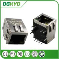 Best Right Angle 10 / 100 BASE RJ45 Modular Jack with transformer, Ethernet Cable Connector wholesale