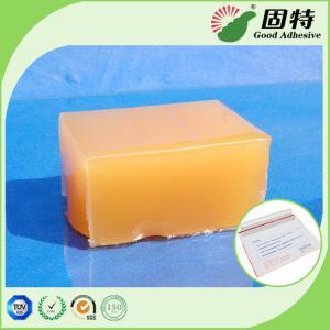 Buy cheap Yellow and semi-transparent block Strong Hot Melt Pressure Sensitive Adhesive from wholesalers