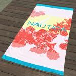 Best Hula Flower Printed Beach Towels , Rose Red Color Bath Towel Sheets wholesale
