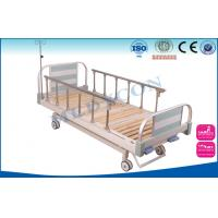 Best PP / ABS Head Manual Hospital Bed Adjustable Two Crank Beds With Headboard By Aluminium Frame wholesale