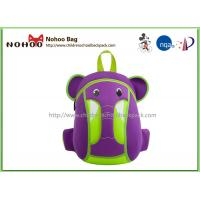 Quality Waterproof Kids Animal Backpack , Personalised Toddler Backpack Elephant Style for sale