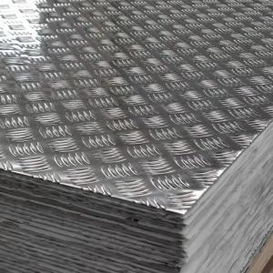 Quality 5052 3000 Series 5 bar aluminum tread plate 2mm aluminium checker plate for sale