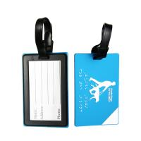 Quality Business ID Card Holder for Travel Baggage Tags Suitcase Labels Bag Made Of Soft Touch PVC Material for sale