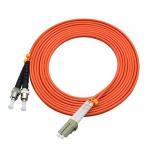Quality 850 Wavelength Optical Fiber Patch Cord 3 Ft LC To ST Duplex 62.5 / 125um OM2 for sale