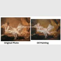 Traditional Nude Woman Portrait / Canvas Art Portrait Brush Strokers Photo Montage