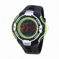 China LCD Watch with Elegant Dark Screen with Backlight, 30M Water-resistant, Night Light Watch on sale