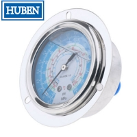 Quality Flange type pressure gauges with 2.5 inch dial stainless steel case for sale