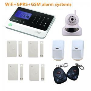 China gsm alarm system with camera, door/window sensor, pir motion sensor, remote controllers on sale