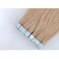 China Double Weft Tape In Human Hair Extensions , European Tape In Hair Extensions on sale