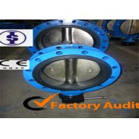 """Quality Cast Iron / WCB Double Eccentric Butterfly Valve , EPDM Rubber lined Valves 2"""" - 48"""" for sale"""