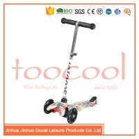 Quality CE ASTM chinese factory colorfuly 3 wheel oem kids popular plastic kick scooter for sale