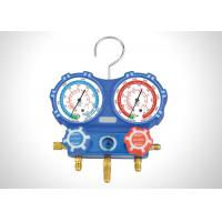 China R134A  R410A Refrigerant Gauge Set For Air Conditioner 68mm Dimeter Anticorrosive on sale