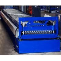 Buy Colored Steel Corrugated Roof Roll Forming Machine High Tensile Thin Barrel at wholesale prices