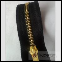 Quality High quality YKK 5# Metal zipper Y teeth shinny light golden O/E for wholesale for sale