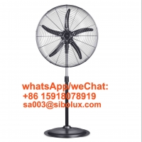 Quality Sibolux Pedestal Fan 26 Inch Oscillating Metal Construction Stand Fan High Ventilador De Piso with 5 blades for sale