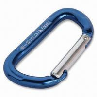 Quality Aluminum Straight Gate Carabiner with Anodizing Color for sale