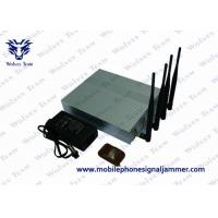 Quality Mobile Phone Remote Control Jammer 10m - 40m Shielding Radius 11W Power for sale
