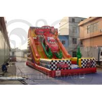 Quality Inflatable Disney Cars Double Lane Slide for sale