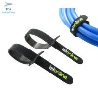 Quality Easy Wrapping Reusable Cable Ties , 100% Nylon Hook And Loop Cable Ties With Logo Custom for sale