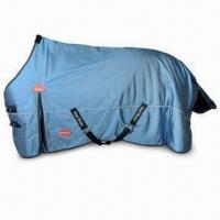 Quality Seamed Turnout Horse Blanket with Adjustable Belly Strap, Available in 68 to 82 Inches for sale