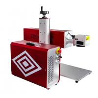 Quality Portable RF Metal Tube CO2 Laser Marking Machine For Leather Wood Engraving for sale