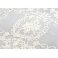 Quality Polyester Voile Curtain Fabric Embroidery Contemporary Decoration for sale