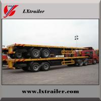 Best 3 Axles 40ft Flat bed Trailer With Tool Box , Container Loading Semitrailer wholesale