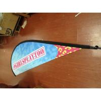Quality Outdoor Advertising Teardrop Flag Banner with Kits for sale