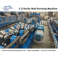 Quality C Z Purlin Plastic Forming Machine High effiency with touch screen for sale