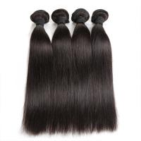 Quality Double Machine Weft Virgin Human Hair Bundles Long Straight Hair Extensions For Thin Hair for sale