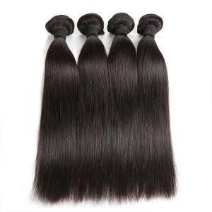 Double Machine Weft Virgin Human Hair Bundles Long Straight Hair ExtensionsFor Thin Hair