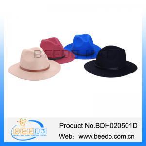 China Handmade women wool felt hat wide brim mens fedora hats for women on sale